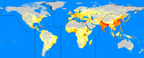 LandScan - global population data at 1km resolution